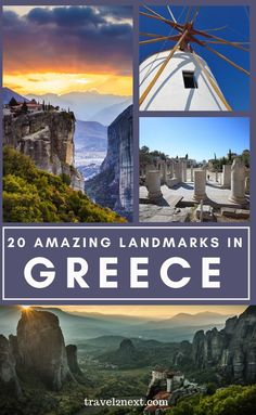 20 Incredible Landmarks in Greece. Home to philosophers, Socrates, Plato and Aristotle, artists and scientists, Greece, is a Mediterranean country rich in history, culture and natural beauty. #travelideas #landmarks #greece #greek #europe #travel #monuments European Travel Tips, Europe Travel Guide, European Destination, Travel Abroad, Budget Travel, Travel Guides, Greece Vacation, Greece Travel, Greece Trip