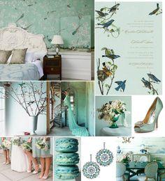 Colour palette: aqua-blue.