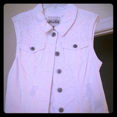 Denim vest. Sleeveless white jean vest  in excellent condition. Worn once! Jackets & Coats Vests