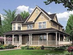 2+story+house+with+a+porch | ... Victorian, Country, Farmhouse, Corner Lot House Plans & Home Designs by iiiiiikdsffioye