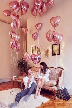 love all the pink balloon. Pink, hearts, pink everywhere!