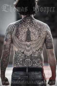 full back mandala tattoo by Thomas Hooper