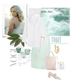 """""""White Shirt"""" by rever-de-paris ❤ liked on Polyvore featuring Delpozo, Alice.D, Miu Miu, Suzanne Kalan, Kate Spade, Velvet, Serena & Lily, LSA International, Spring and contest"""