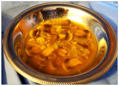 Recipes from Curia Regis Brunch:   Funges Funges (The Forme of Cury, c. 1390) - a savory dish of mushrooms and leeks cooked in broth, flavored with a blend of pepper, grains of paradise, long pepper, cubebs, ginger, cinnamon and cloves.  The unusual spicing makes this a unique and delicious meal that can be made vegetarian or not on the broth that is used.    http://giveitforth.blogspot.com/2017/10/funges-forme-of-cury-c-1390.html