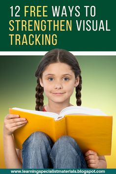 Learning Specialist and Teacher Materials - Good Sensory Learning: 12 Free Ways to Strengthen Visual Tracking Sensory Activities, Therapy Activities, Sensory Rooms, Motor Activities, Dyslexia Activities, Learning Disabilities, Reading Activities, Dream Reader, Reading Words