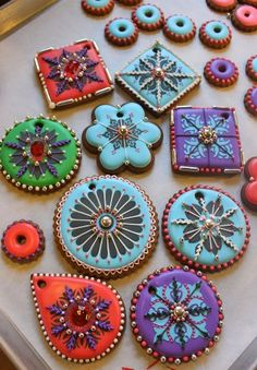 Indian Weddings Inspirations. Henna Wedding Cookies. Repinned by #indianweddingsmag indianweddingsmag.com #weddingcake