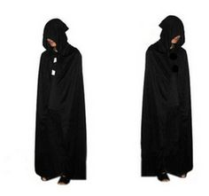 free shipping Black Halloween Costume Theater Prop Death Hoody Cloak Devil Long Tippet Cape #Affiliate