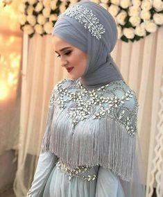 Hijab is elegant Muslim outerwear that will add breathtaking charm on your modern wearing. Hijab can Muslim Wedding Gown, Muslim Wedding Dresses, Muslim Brides, Wedding Hijab, Muslim Girls, Muslim Couples, Chic Wedding, Perfect Wedding, Bridal Hijab