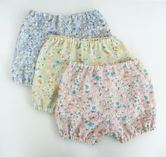 baby girls bloomer pants / diaper covers three by swallowsreturn, $32.00