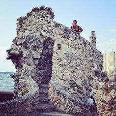Half underwater castle made of seashells. Obviously. Because Cuba is all about efficiency. by rachellevak
