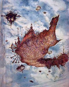 Week 9 - Final Fantasy IX- Concept Art Mon - Airship Concept Art