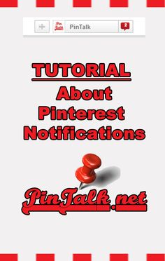 About the Notification menu - Pinterest Tutorial