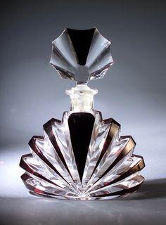 Perfume bottle - Parfum fles-Czechoslovakian perfume bottle, circa 1930s,