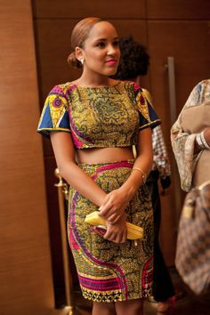 Ankara skirt and crop top set