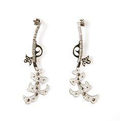Gun Filigree Diamond Earrings