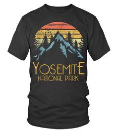 Vintage Yosemite National Park California T-Shirt