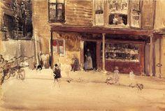 James Abbot McNeil Whistler - The Shop an Exterior