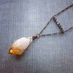 Citrine And Pyrite Necklace by MarleeCWatts on Etsy