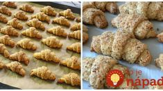 Mini orechové rožteky bez vajec: Smotanové cesto len z 3 prísad! Ciabatta, Sweet Desserts, Croissant, Almond, Recipies, Cookies, Breakfast, Cake, Straws