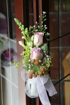 Posies of Antirhinnum, September, Memory Lane Roses, Freesia, Poppy Seed Heads and Blackberries dressed the opening of the Pagoda perfectly Purple Wedding Flowers, Floral Wedding, Pew Ends, Civil Ceremony, Flower Designs, Floral Wreath, Events, Blackberries, Table Decorations