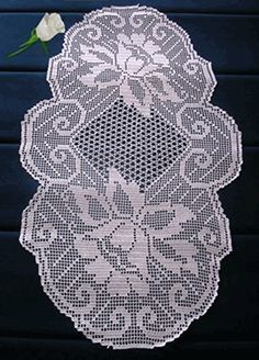 Цветочная cалфетка крючком Filet Crochet Charts, Crochet Motifs, Crochet Doilies, Crochet Stitches, Crochet Table Topper, Crochet Table Runner, Crochet Tablecloth, Crochet Round, Crochet Home
