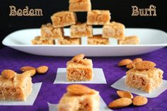 Coconut Burfi is an easy to make, delicious South Indian sweet made from freshly grated coconut and sugar. Perfect for celebrations like Diwali, Holi, etc. Indian Sweets, Indian Snacks, Easy Indian Sweet Recipes, Sweet Pongal, Coconut Burfi, Burfi Recipe, Clarified Butter Ghee, Set Cookie, Thing 1