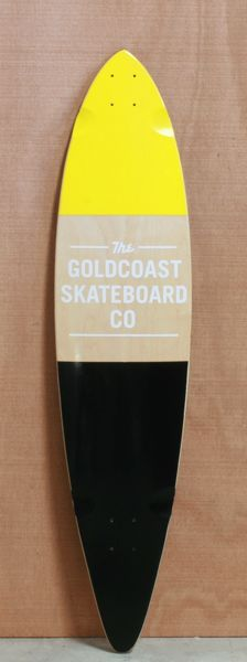 "GoldCoast 44"" Standard Yellow Longboard Deck  Birthday Please!"