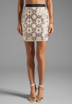 #Revolve Clothing         #Skirt                    #Malene #Birger #Embellished #Stretch #Kiala #Skirt #Skin #from #REVOLVEclothing.com                    By Malene Birger Embellished Stretch Kiala Skirt in Skin from REVOLVEclothing.com                                                 http://www.seapai.com/product.aspx?PID=526883