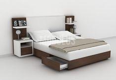 Wardrobe Design Bedroom, Bedroom Bed Design, Bedroom Furniture Design, Bed Furniture, Bedroom Decor, King Size Bed Designs, Box Bed Design, Wooden King Size Bed, Bed Designs With Storage