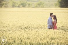 Sea of Wheat | Morgan & Paul's Wildflower Engagement Session | Christina Carroll Photography