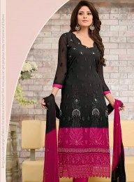 Amazing Black & Pink Designer Salwar Suit