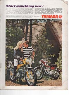 Vintage 1967 Print Ad for Yamaha Motorcycles