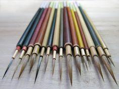 面相筆 専門|中津筆工房|職人 中津大造 Japanese paint brush, Mesou-fude