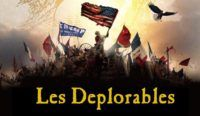 Watch: Trump Makes Entrance to 'Do You Hear the People Sing?' with 'Les Deplorablés' Banner