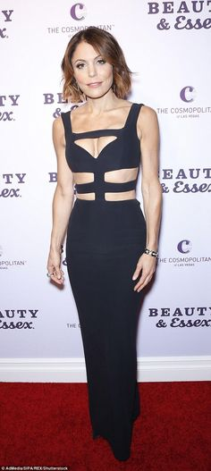 Hot houswife!Bethenny Frankel, 45, looked sensational as she led the red carpet glamour at the launch of the Beauty and Essex bar in Las Vegas