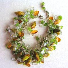 Bracelet SS Peridot Citrene Quartz Agate