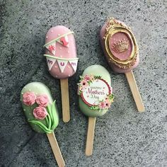 Ice Cream Pops, Ice Pops, Cookie Pops, Cakepops, Cute Desserts, Delicious Desserts, Magnum Chocolate, Paletas Chocolate, Cake Pop Designs