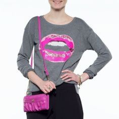Juicy Couture Graphic Sweatshirt Embellished Lips BRAND NEW WITH TAGS.  No Trades Juicy Couture Tops Sweatshirts & Hoodies