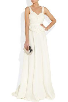 Sophia Kokosalaki Harmonia matelassé silk-blend gown  NET-A-PORTER.COM