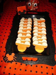 Mickey candy corn cookies