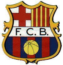 1906-1920-Este fue el primer escudo oficial con forma de olla con las siglas F.C.B( Futbol Club Barcelona)