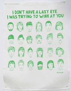 I Don't Have a Lazy Eye, I Was Trying To Work At You tea towel from Able & Game #lifeinstyle #greenwithenvy