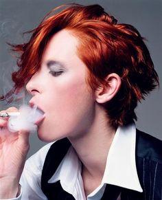 Redheads are unpredictable. Tilda Swinton.