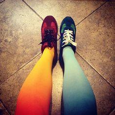 Virivee ombre tights #virivee #ombre #tights #sneakers http://instagram.com/virivee http://virivee.com