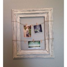 Distressed picture frame/ farmhouse frames/ clip picture frames/
