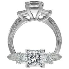 Classic engagement ring. I love this. Almost Gatsby-esque. Someone tell my boyfriend!