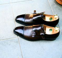 Lowndes Double Monks by Crockett & Jones. Why are the shoes i like always so expensive! Me Too Shoes, Men's Shoes, Shoe Boots, Dress Shoes, Top Shoes For Men, Crockett And Jones, Double Monk Strap, Mens Training Shoes, Monk Strap Shoes