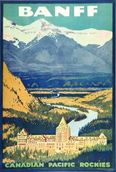 Banff Canadian Rockies Henry Sotheran's - Vintage Posters Banff Canadian Rockies
