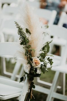 pampas grass and pink roses outdoor wedding aisle ideas wedding aisle 15 Whimsical Wedding Aisle Ideas with Pampas Grass - Oh Best Day Ever Wedding Aisle Outdoor, Wedding Aisle Decorations, Wedding Ceremony, Ceremony Seating, Outdoor Weddings, Church Wedding, Outdoor Ceremony, Wedding Centerpieces, Wedding Show