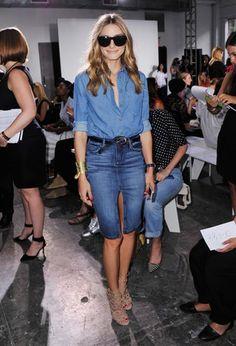 オリビア・パレルモ - 今季トレンドのデニムオンデニム、おしゃれ番長オリビアの着こなしは? | 海外セレブファッションスナップ CELEB SNAP